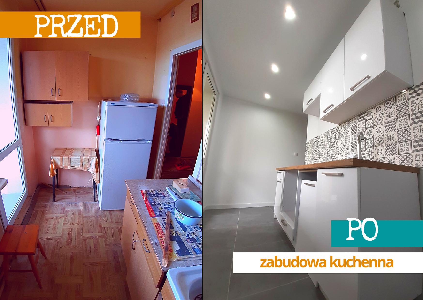 kup sobie chate remont mieszkania w bloku wielka plyta kuchnia metamorfoza przed i po