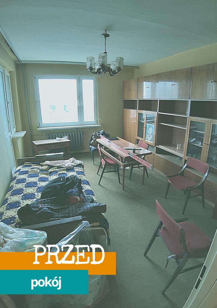 kup sobie chate remont mieszkania w bloku wielka plyta duzy pokoj metamorfoza przed 1